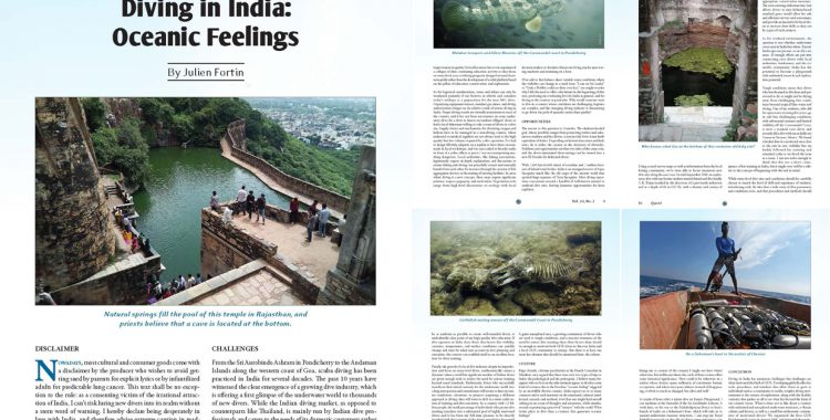 Quest Magazine (Global Underwater Explorers, GUE) - Diving in India: Oceanic feelings, by Julien Fortin
